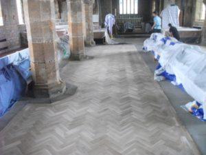 gosforth church renovation parquet flooring install