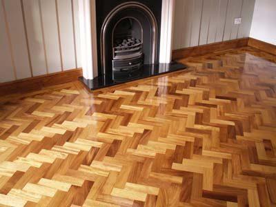 gloss coated wood floor